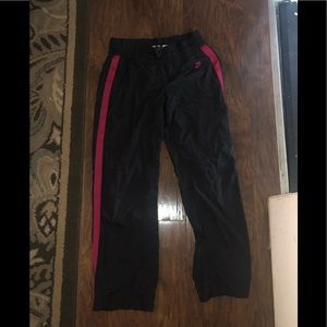 MEDIUM GRAY AND PINK NIKE TRACK SUIT PANTS